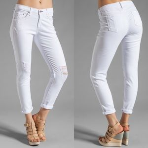 🆕EUC Rag &Bone Slouchy Dash Skinny Tattered White